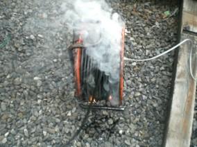 コードリールから発火